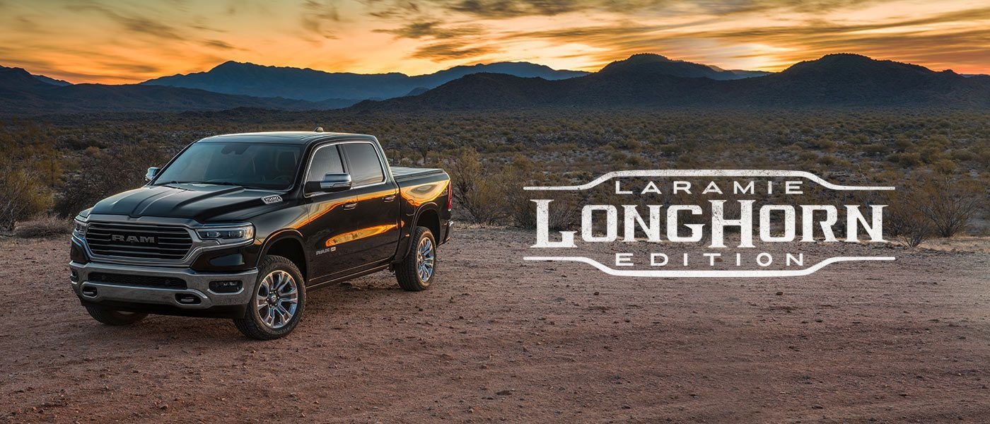 Arrive in style. The All-New 2019 Ram 1500 Laramie Longhorn® blends comfort, technology and southwestern appointments to make a distinctive statement. Outside, choose from bold chrome accents or striking two-tone color options. Inside, surround yourself with refinements like premium leather and real barn wood accents.